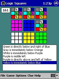 Logic Squares for Pocket PCs Screenshot