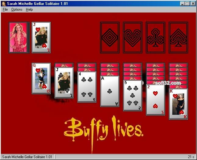 Sarah Michelle Gellar Solitaire Screenshot 3