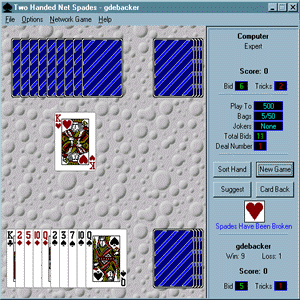 Two Handed Net Spades Screenshot 1