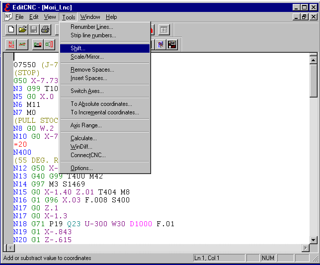 EditCNC Screenshot