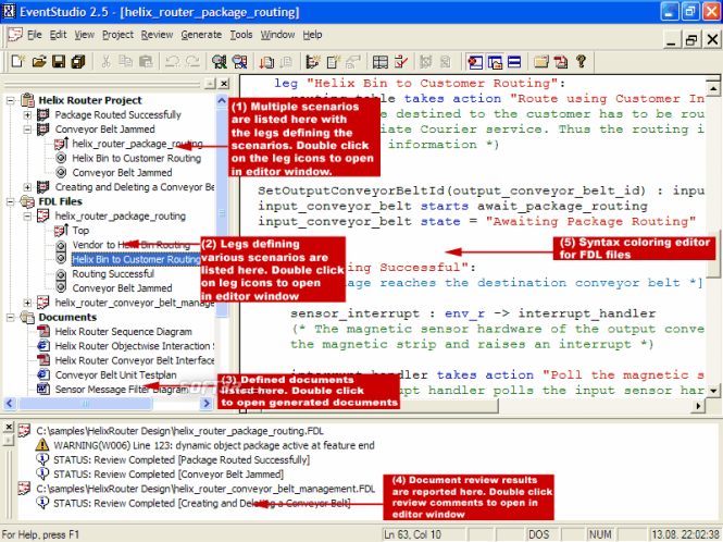 EventStudio System Designer Screenshot 2