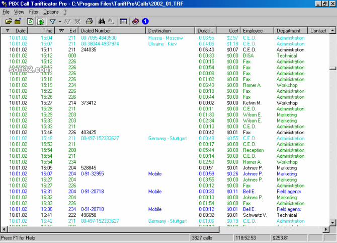PBX Call Tarifficator Pro Screenshot 3