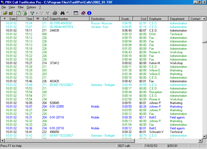 PBX Call Tarifficator Pro Screenshot 1