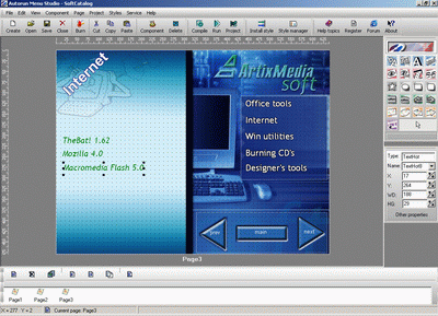 ArtixMedia Menu Studio [Christmas Ed.] Screenshot