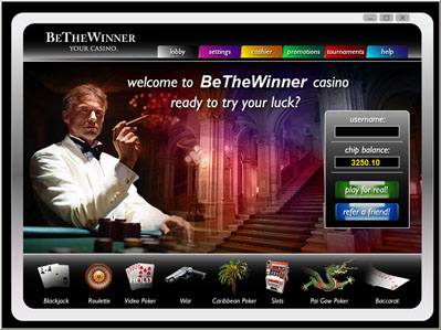 BeTheWinner Casino Screenshot
