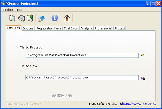 AntiCrack Software Protector Basic Screenshot 2