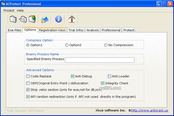 AntiCrack Software Protector Basic Screenshot 3