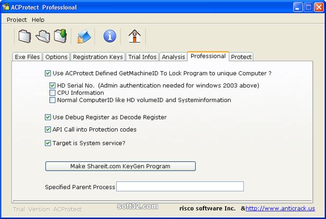 AntiCrack Software Protector Basic Screenshot 5