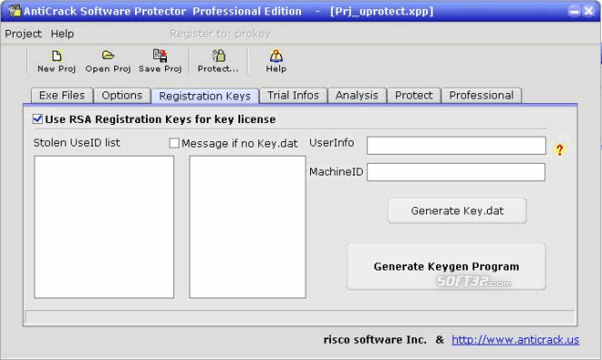 AntiCrack Software Protector Basic Screenshot
