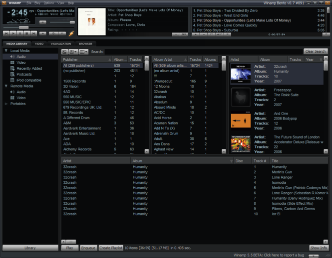 Winamp Screenshot 1