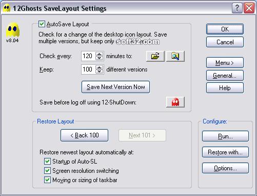 12Ghosts SaveLayout Screenshot 2
