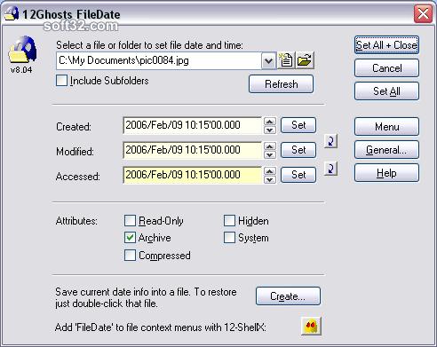 12Ghosts FileDate Screenshot 2