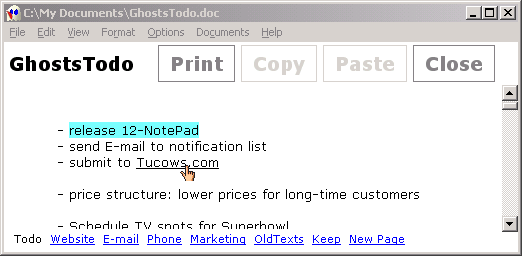 12Ghosts Notepad Screenshot