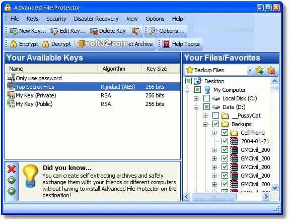 Advanced File Protector Screenshot