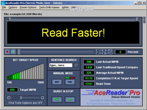 AceReader Pro Deluxe Network Screenshot 2