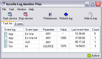 Ascella Log Monitor Plus Screenshot