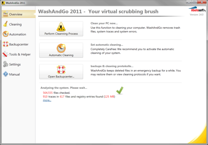 WashAndGo 2009 Screenshot