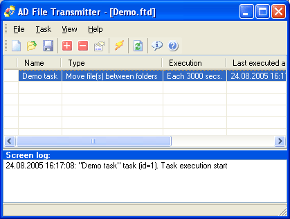 AD File Transmitter Screenshot