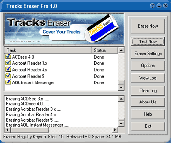 Tracks Eraser Pro Screenshot 1