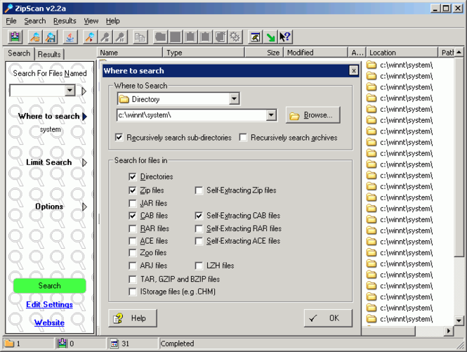 ZipScan Screenshot