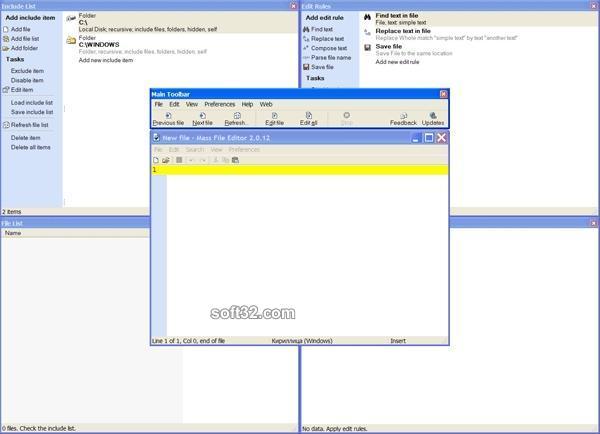 Mass File Editor Screenshot 2