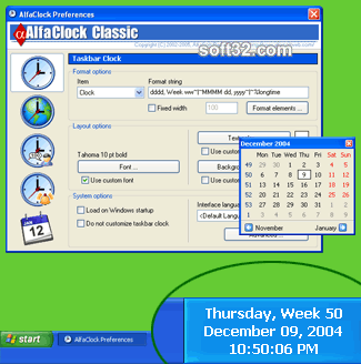 AlfaClock Screenshot