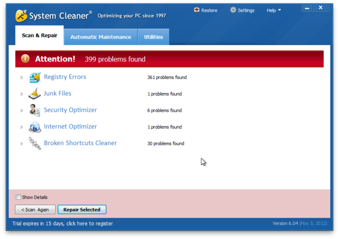 System Cleaner Screenshot 3