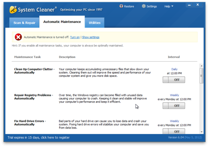 System Cleaner Screenshot 6