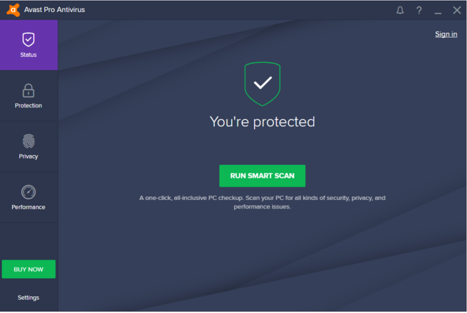 Avast Pro Antivirus 2017 Screenshot 2