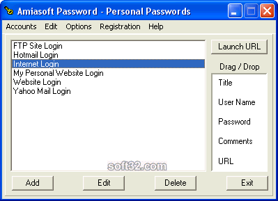 Amiasoft Password Screenshot 1