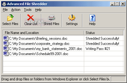 Advanced File Shredder Screenshot 3