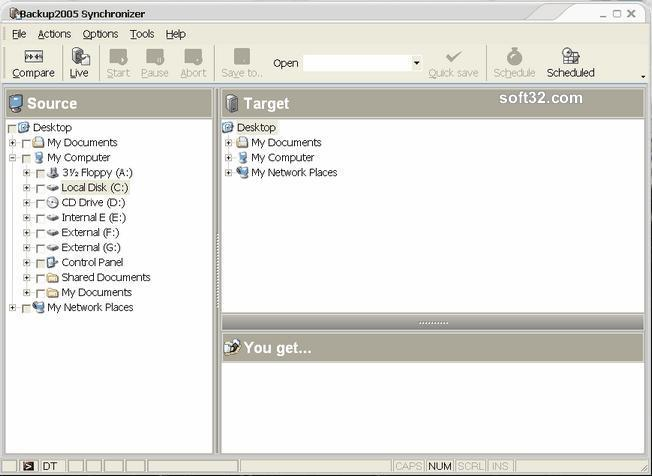 Backup2007 Synchronizer Screenshot
