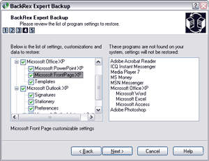 BackRex Expert Backup Screenshot 1