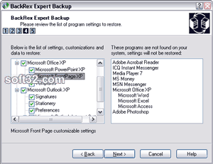 BackRex Expert Backup Screenshot 3