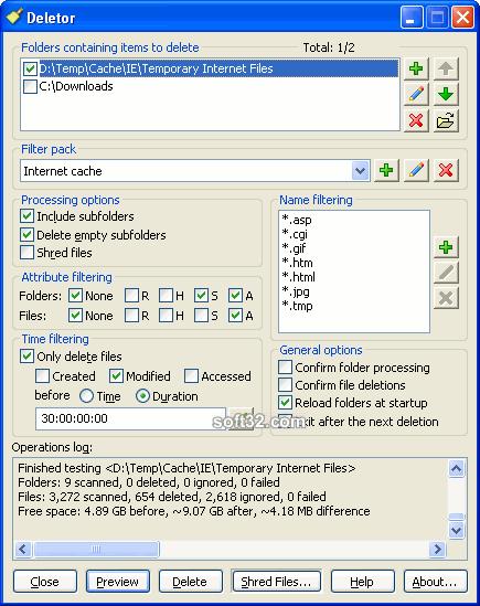 Deletor Screenshot 3