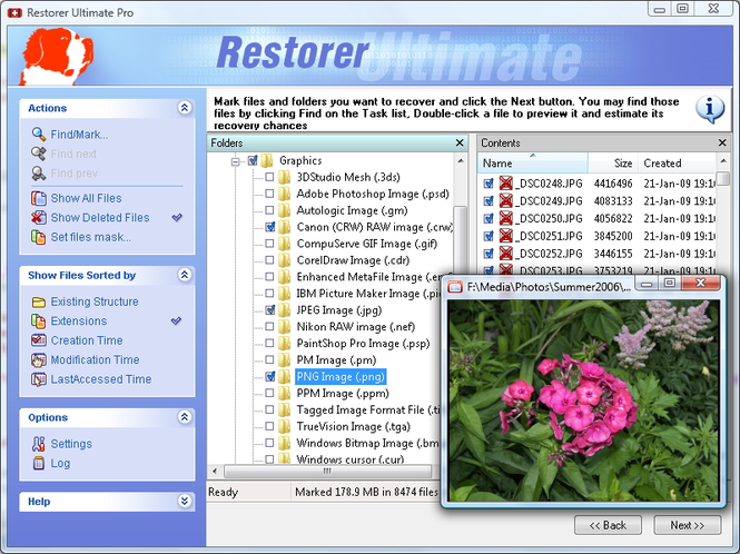 Restorer Ultimate Screenshot