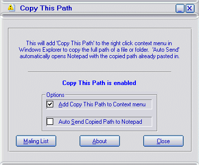 Copy This Path Screenshot 1