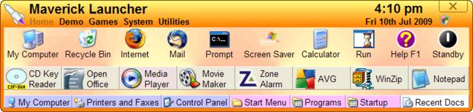 Maverick Launcher Screenshot