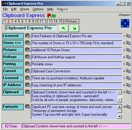 Clipboard Express Pro Screenshot 1