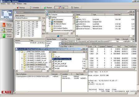 BOS - Backup prOxy Server Screenshot