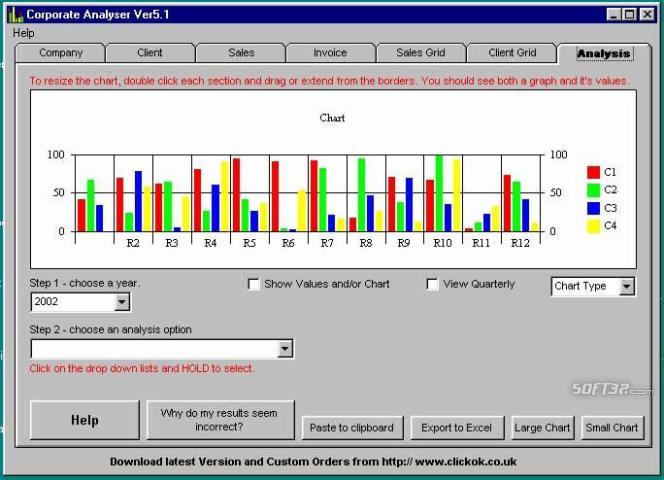 Corporate Analyser Screenshot