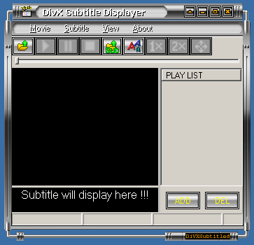 DivX Subtitle Displayer Screenshot