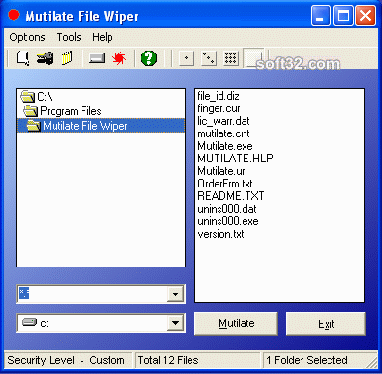 Mutilate File Wiper Screenshot 3