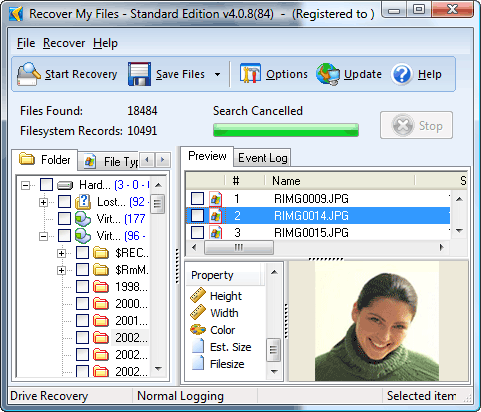 Recover My Files Data Recovery Software Screenshot