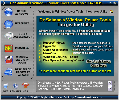 Dr.Salman's Window Power Tools Screenshot