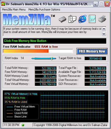 MemZilla Screenshot 1