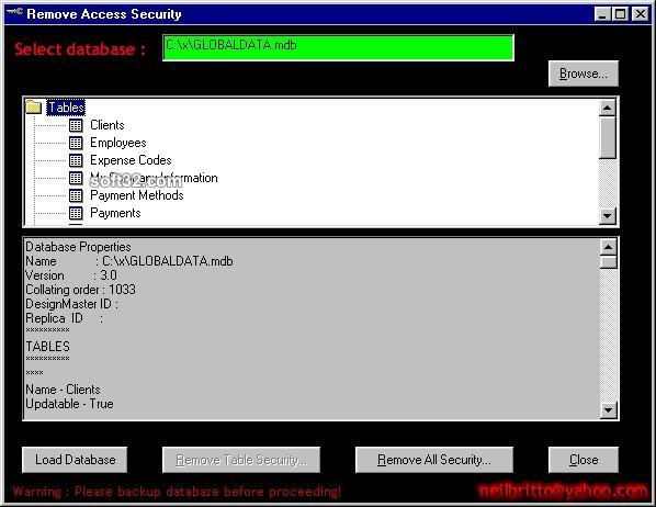 #Remove Access Security Screenshot 2