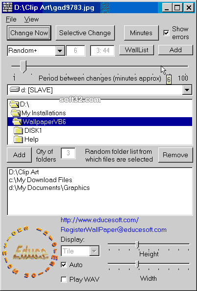 Educesoft Automatic Wallpaper Changer Screenshot