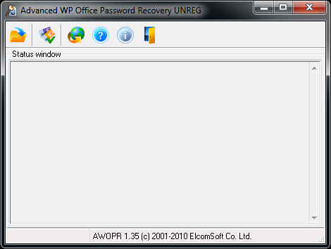Advanced WordPerfect Office Password Recovery Screenshot