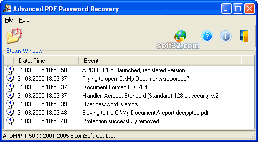 Advanced PDF Password Recovery Screenshot 3